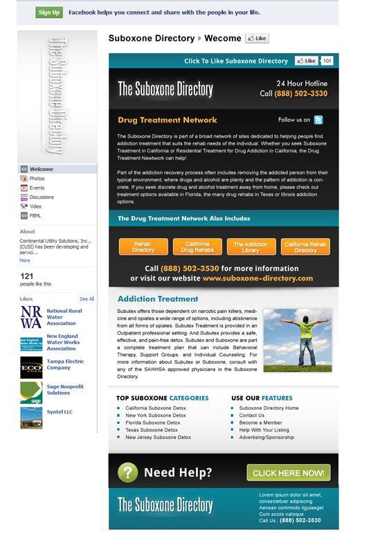 Suboxone-DirectoryFacebook-Fan-Page
